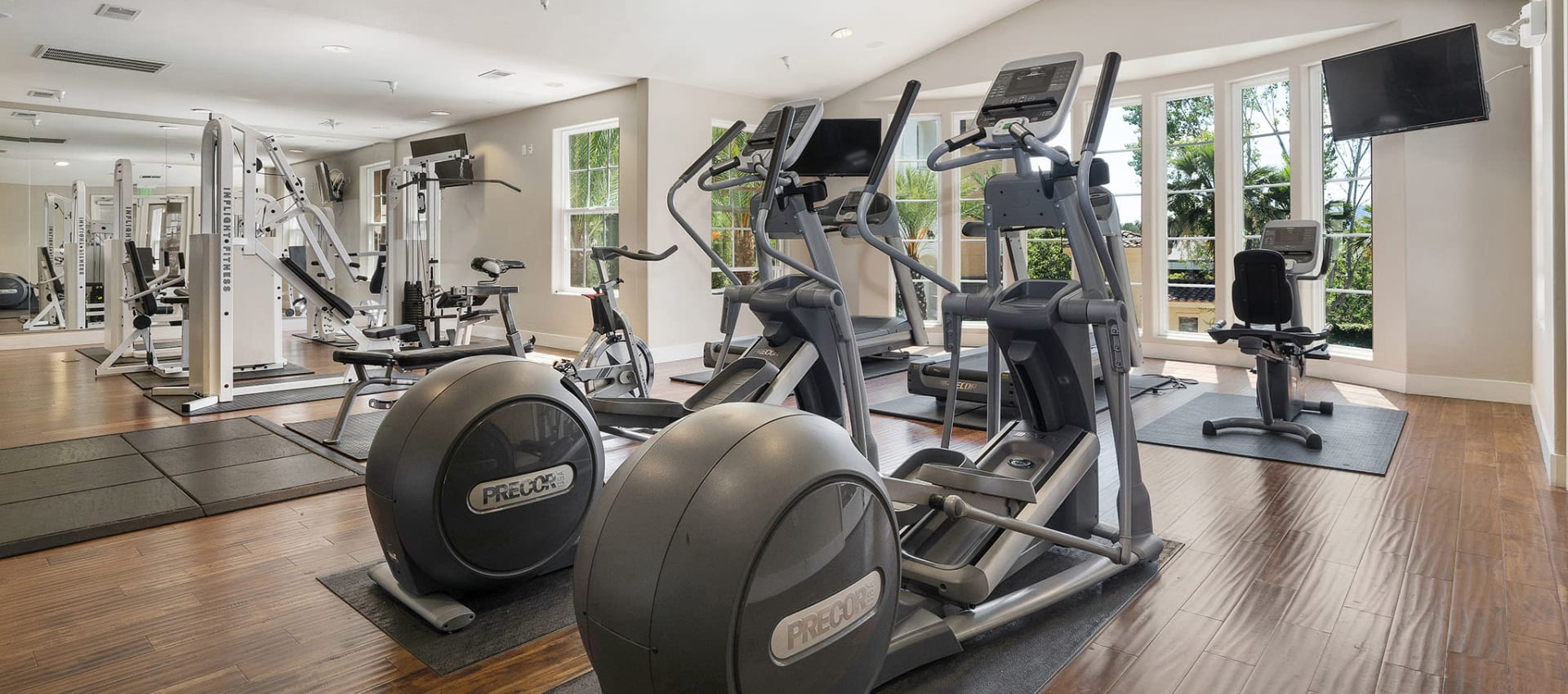 Fitness center at Park Central in Concord, California
