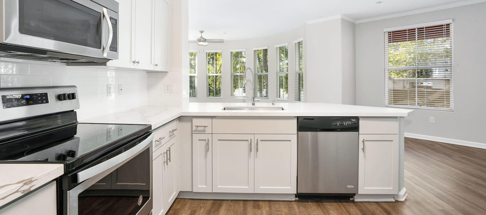 Kitchen at Park Central in Concord, California