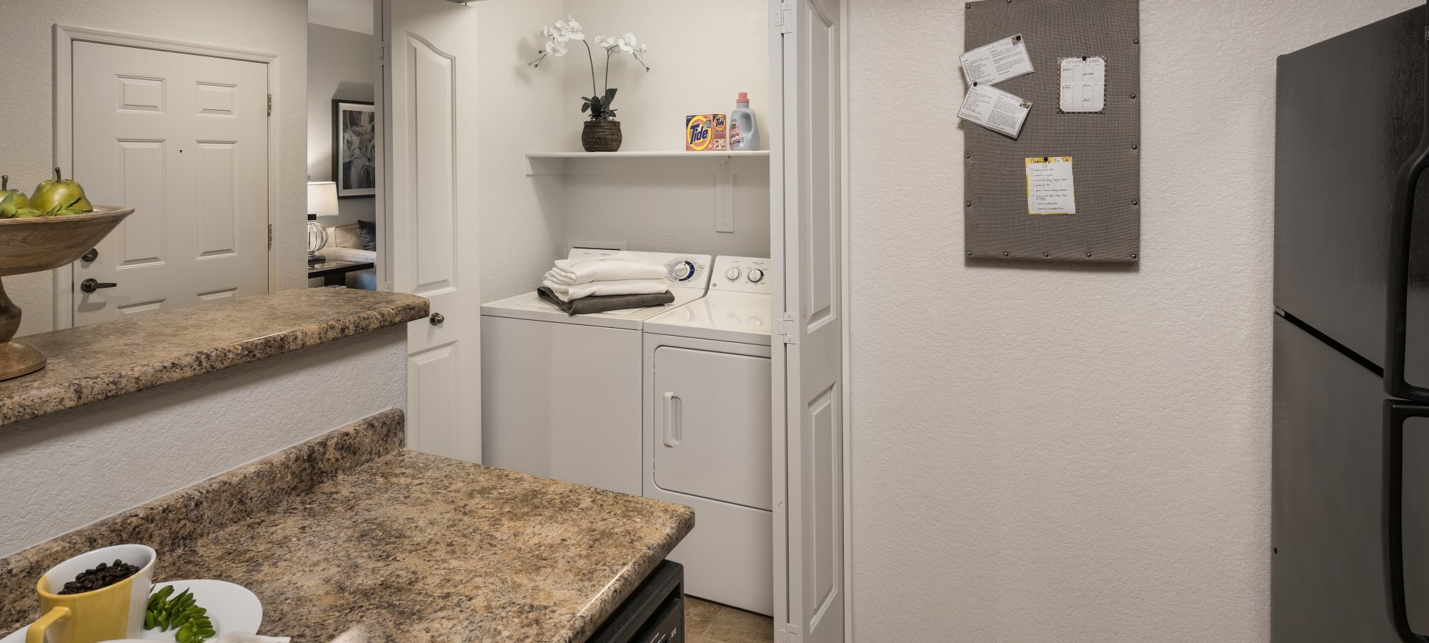 Luxury apartments with a refrigerator in Glendale, Arizona