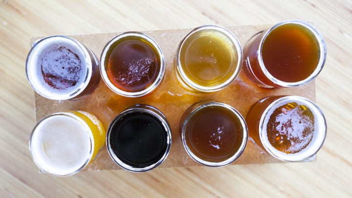 Flight of beer at Fusion Apartments in Irvine, California
