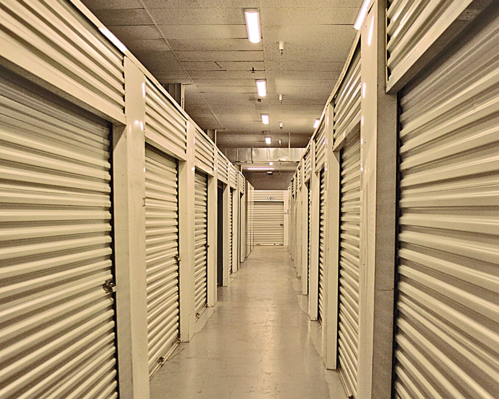 Indoor storage units at Carolina Secure Storage in Creedmoor, North Carolina