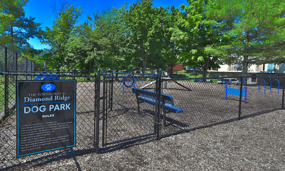 Dog Park at The Townhomes at Diamond Ridge in Baltimore, Maryland