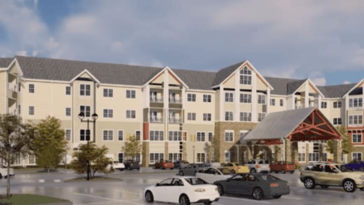 Rendering of the exterior of Harmony at Southridge!