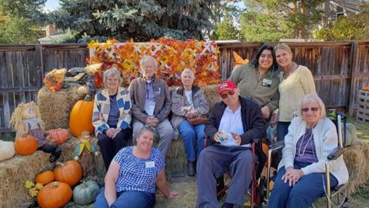 Clermont Park Adult Day residents having a good time together