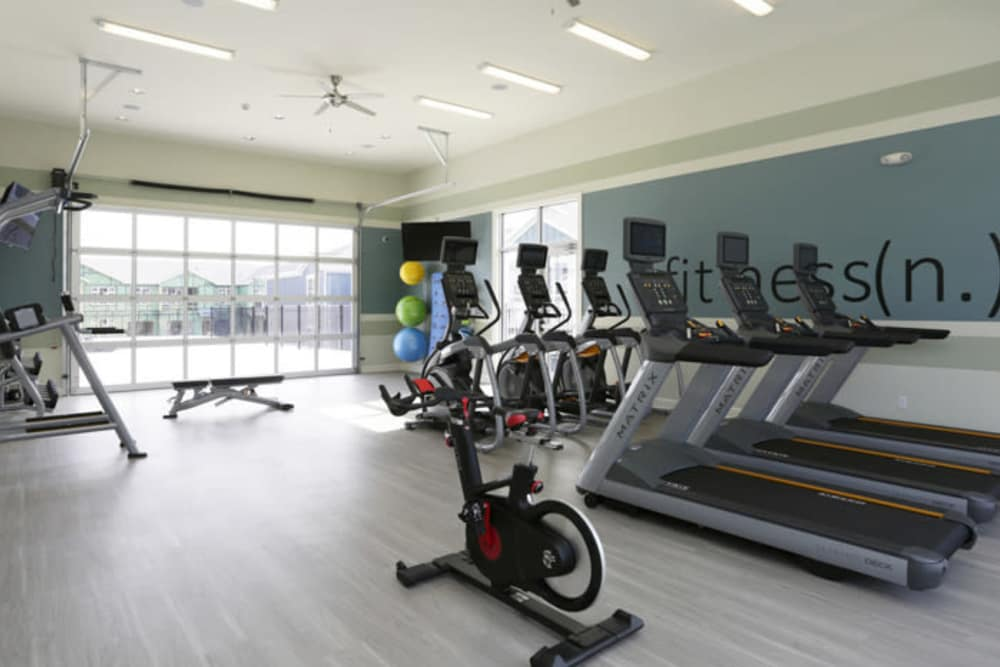 Fitness center at Springs at Canterfield in West Dundee