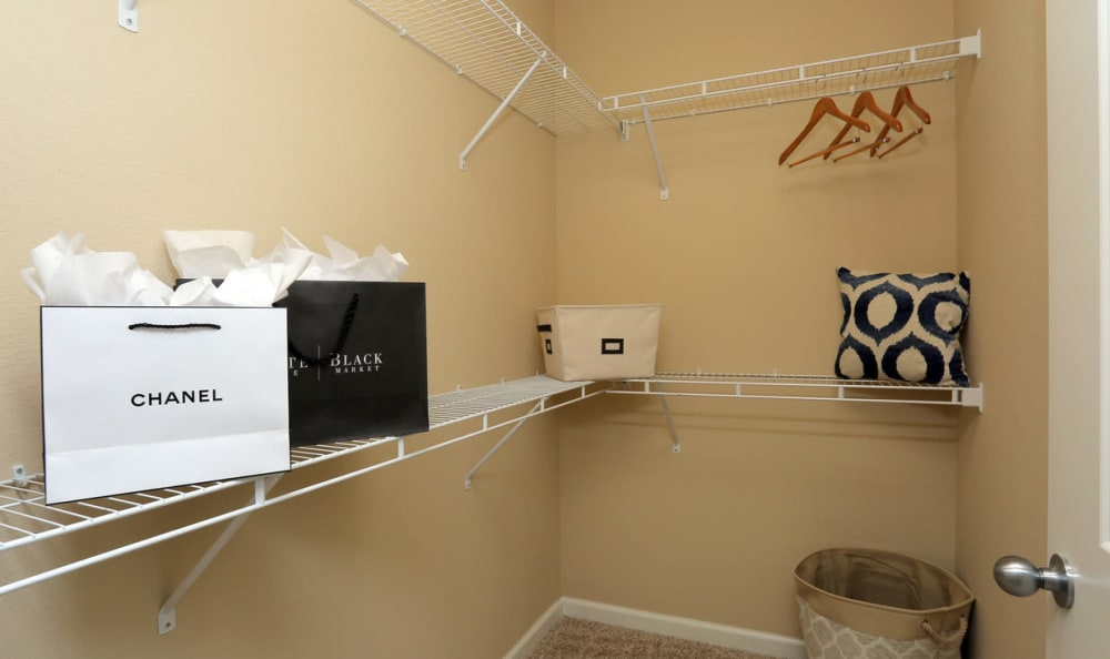 Walk-In Closet At Springs at Woodlands South Apartments In Tulsa