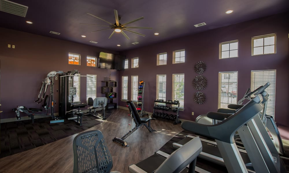 Beautiful gym area at Watercress Apartments in Maize, Kansas