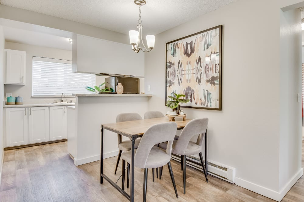Dining room at Copperstone Apartment Homes in Everett, WA