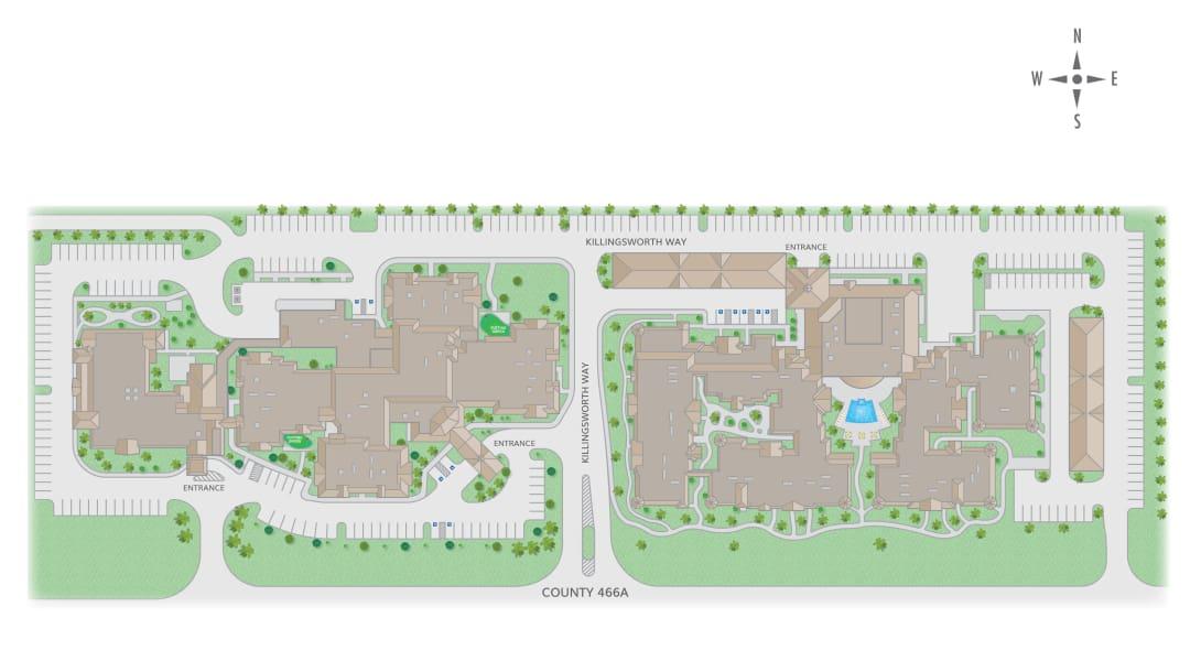 Sumter Senior Living site map