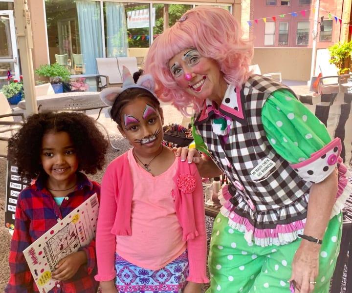 First Hill Fun Fair children and clown