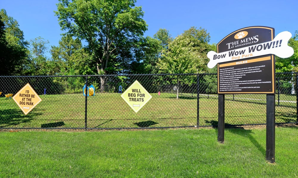 Mews at Annandale Townhomes offers a dog park in Annandale, NJ