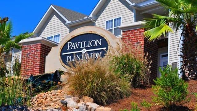 Entrance Sign at Pavilion at Plantation Way in Macon, GA