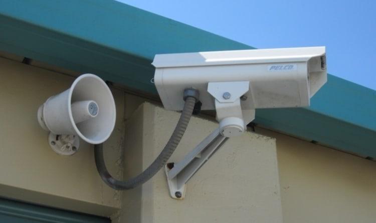 A security camera at Acorn Self Storage - Pittsburg in Pittsburg, California