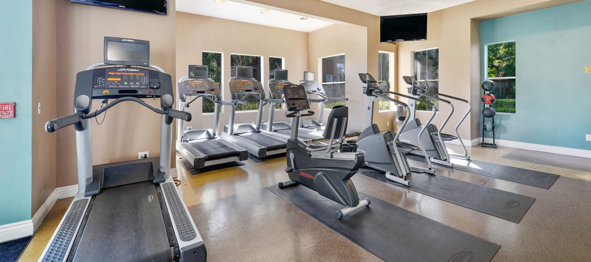 Well Equiped Fitness Center at Rosewalk at San Jose