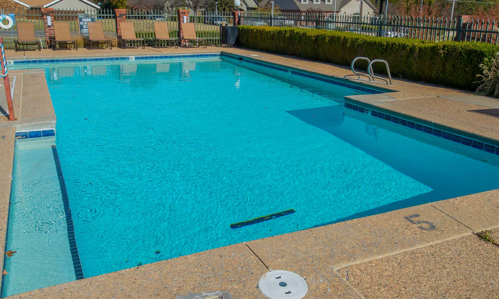 Creekwood Apartments's outdoor pool in Tulsa, Oklahoma
