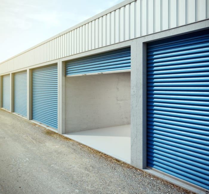 A variety of self storage units at Guard Dog Storage in San Marcos, Texas