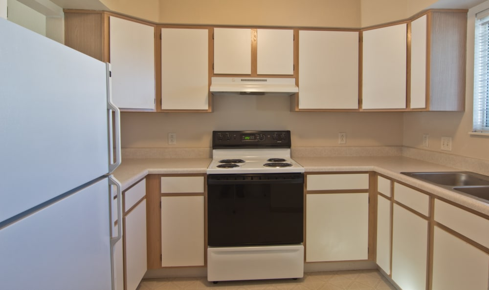 Kitchen at Steeplechase Apartments & Townhomes