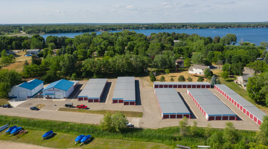 An aerial view of KO Storage of Annandale - Office in Annandale, Minnesota
