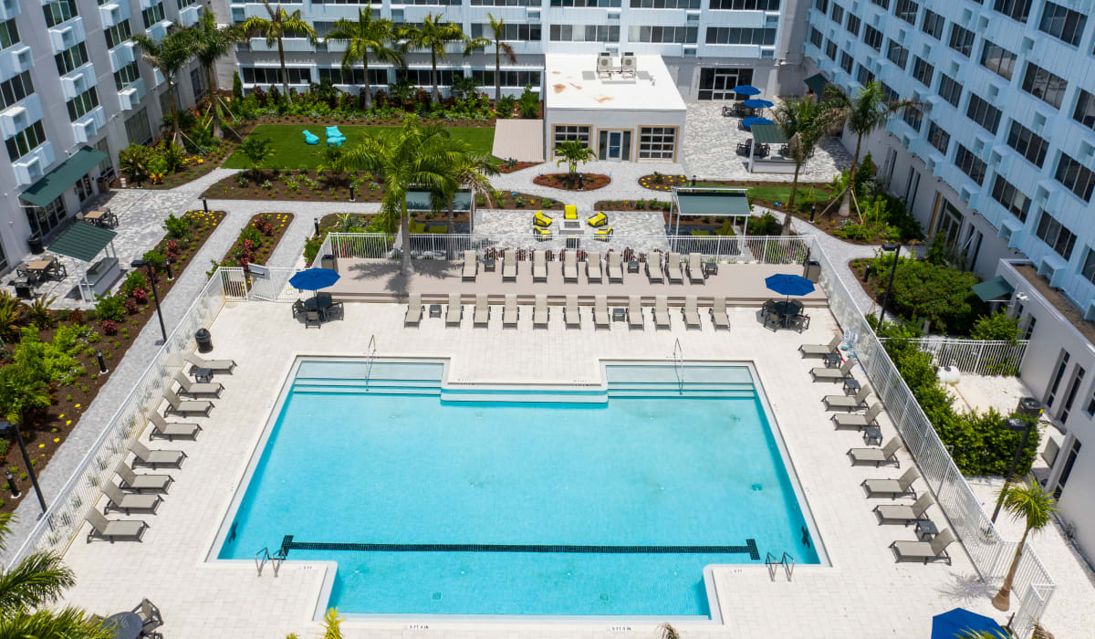 Resort style pool at The Wayland in St Petersburg, Florida