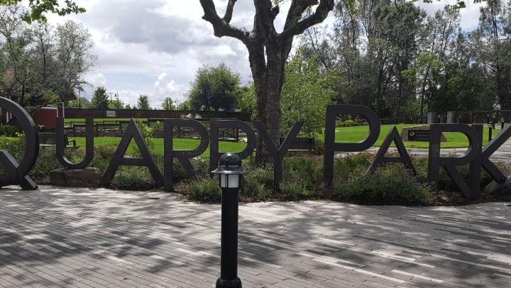 Quarry Park Rocklin CA Entrance Sign