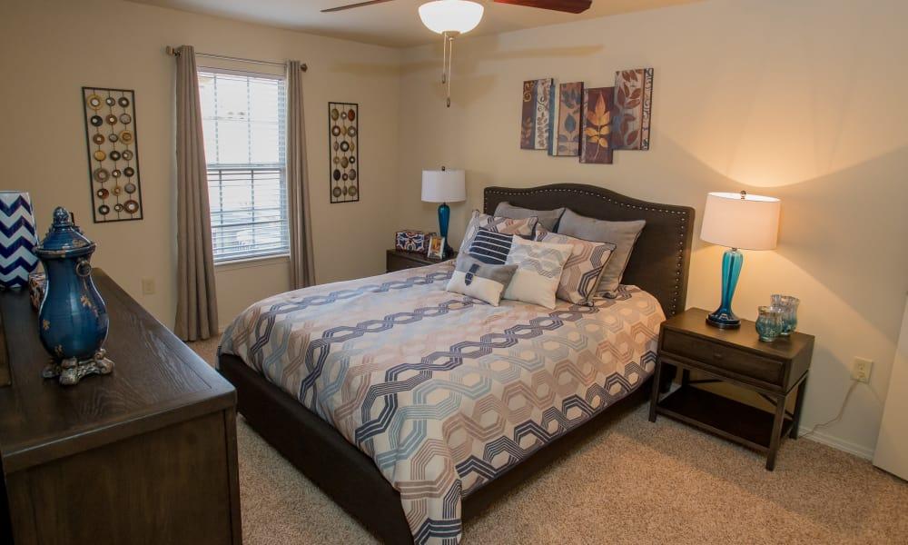 Naturally well-lit bedroom at Park at Tuscany in Oklahoma City, Oklahoma