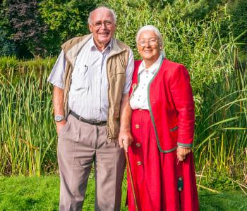 Residents enjoying time together at Lassen House Senior Living