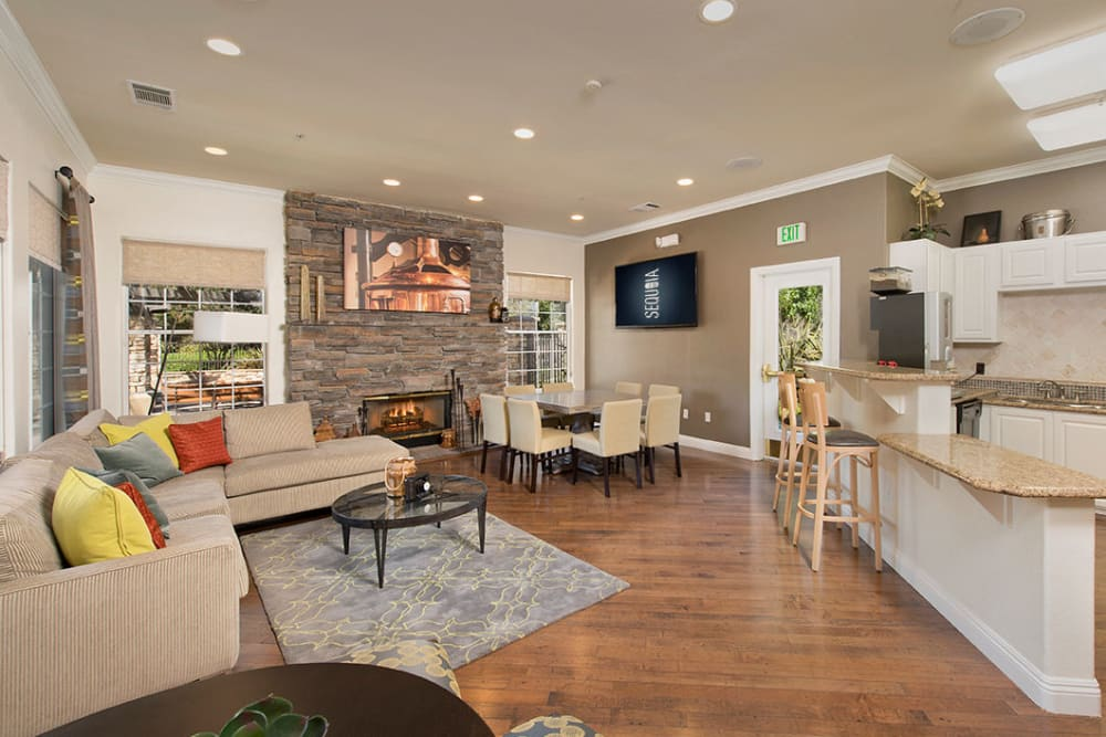 Resident clubhouse with plush carpeting at River Oaks Apartment Homes in Vacaville, California