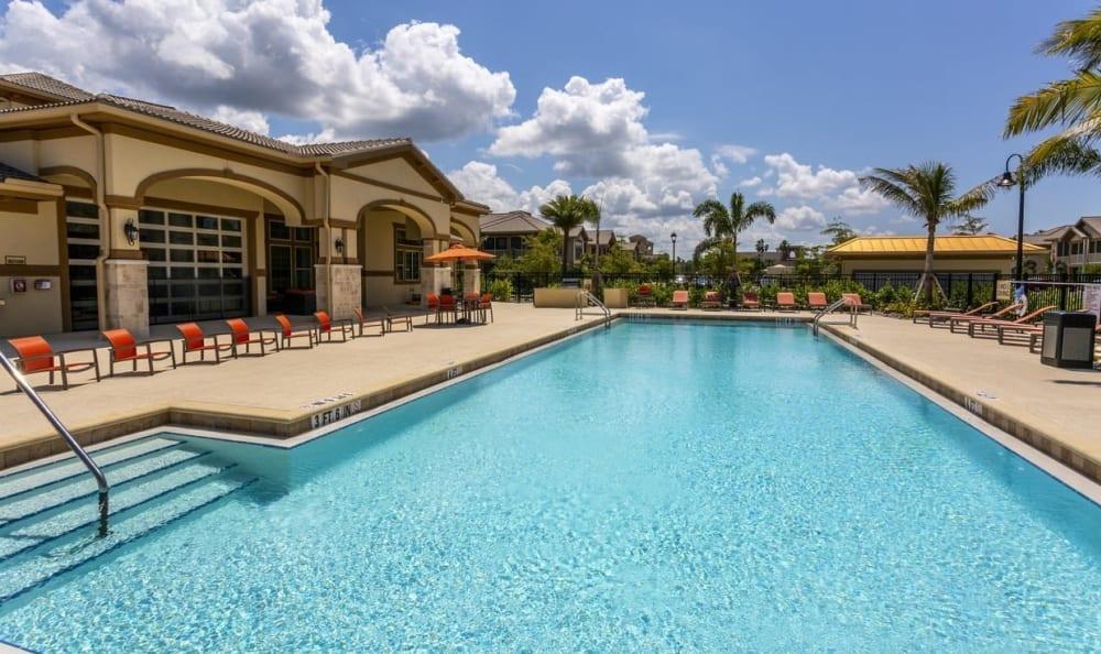 Resort style pool  Springs at Gulf Coast in Estero, FL