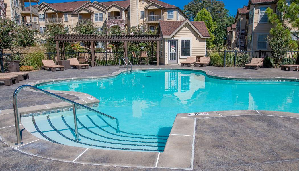 Tuscany Hills's gated community swimming pool in Tulsa, Oklahoma