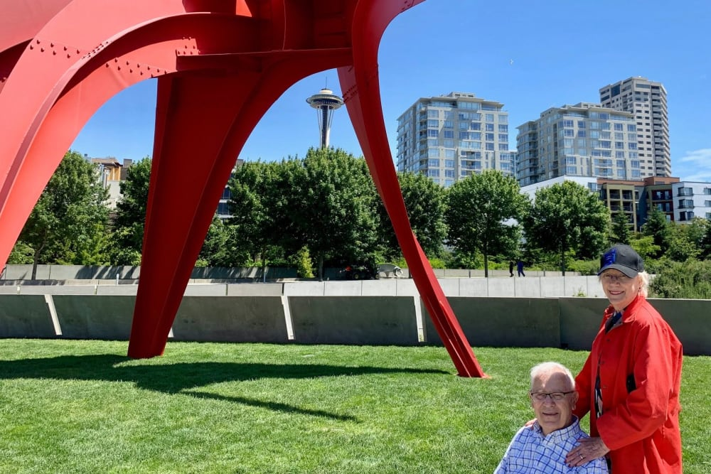 Residents at the Olympic Sculpture Park