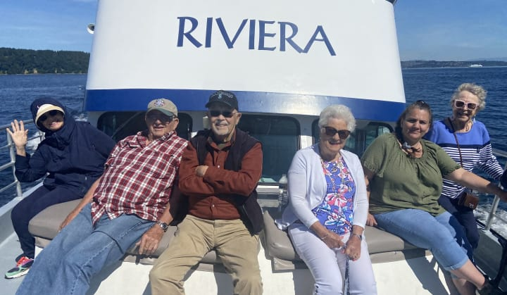 Tacoma residents enjoy a cruise out on the Puget Sound!
