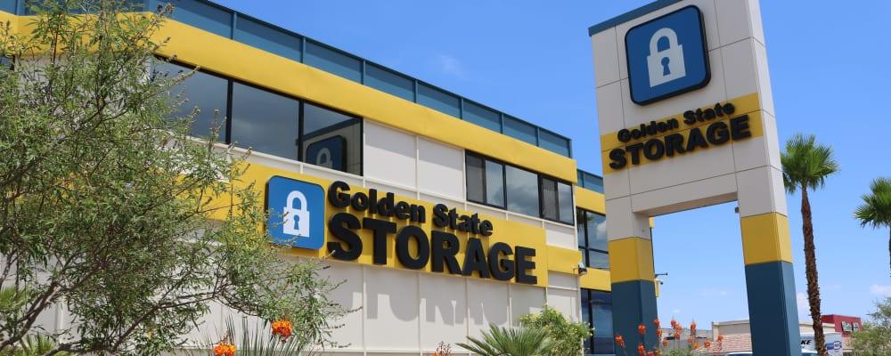 Exterior of Golden State Storage - Tropicana in Las Vegas, Nevada