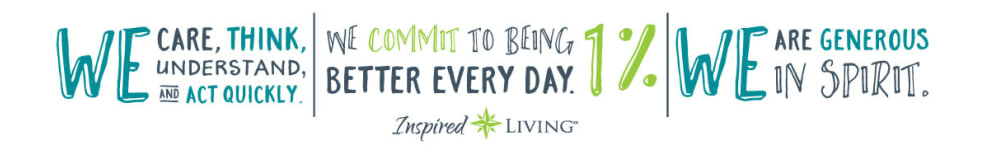 slogan graphic for Inspired Living Sun City Center in Sun City Center, Florida.