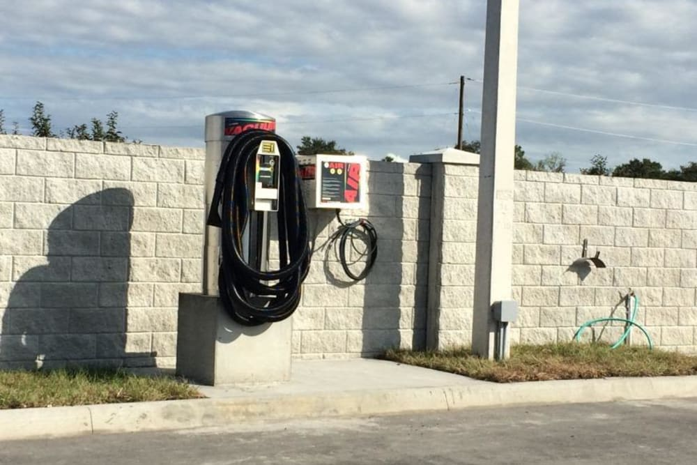 Air pump for tires at Stor 4 Dayz in Sanford, Florida