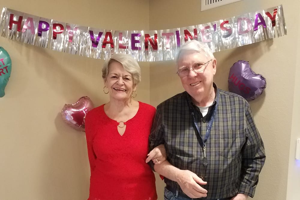 Valentine's Day celebrations at Merrill Gardens at Rancho Cucamonga in Rancho Cucamonga, California.