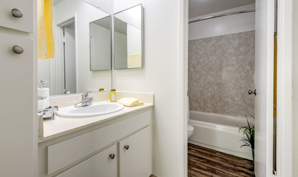 Example bathroom at apartments in Northridge