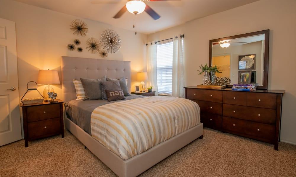 Spacious bedroom at Park at Mission Hills in Broken Arrow, Oklahoma