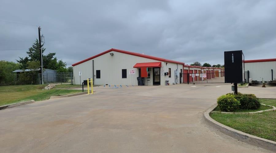 Gated entrance to KO Storage of Wichita Falls in Wichita Falls, Texas