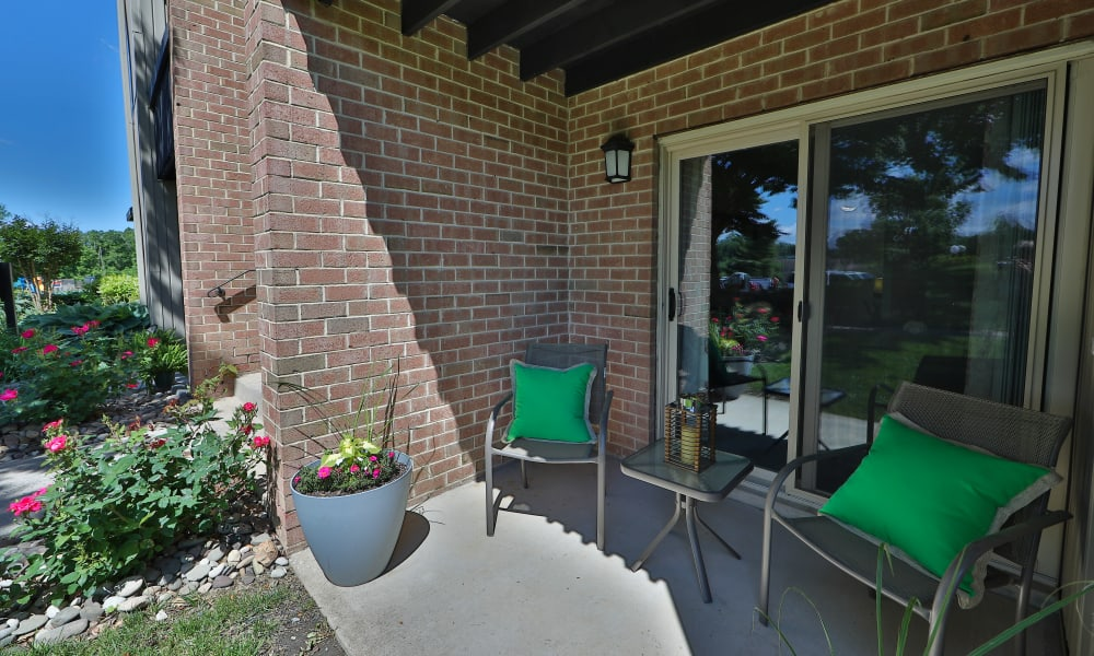 Patio Space at Lakewood Hills Apartments & Townhomes in Harrisburg, PA