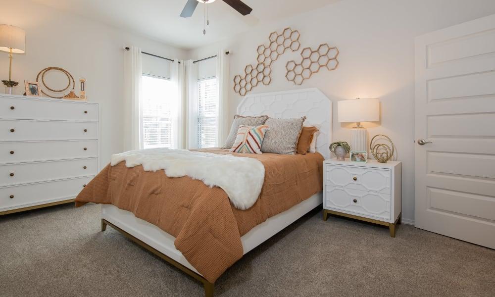 Bright bedroom at Artisan Crossing in Norman, Oklahoma