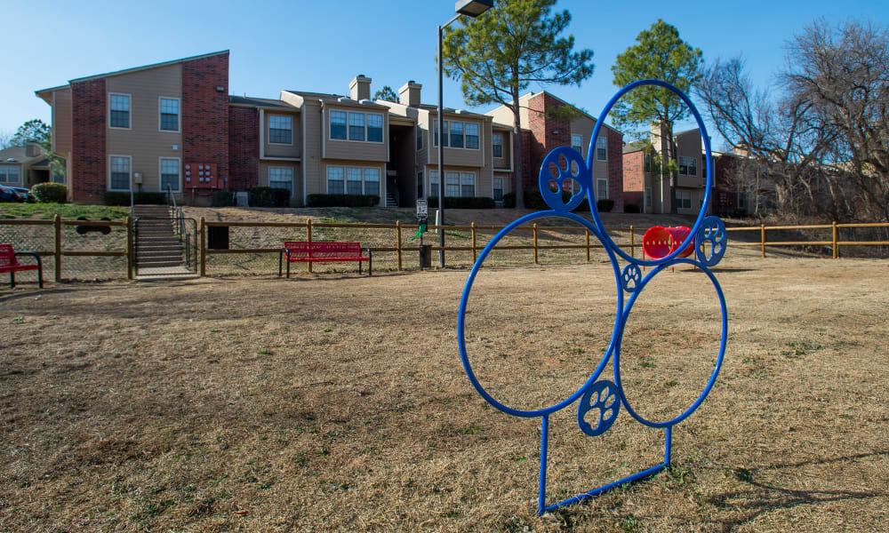 Dog park at Creekwood Apartments in Tulsa, Oklahoma