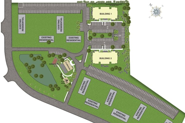The sitemap for The Mills at Lehigh in Bethlehem, Pennsylvania