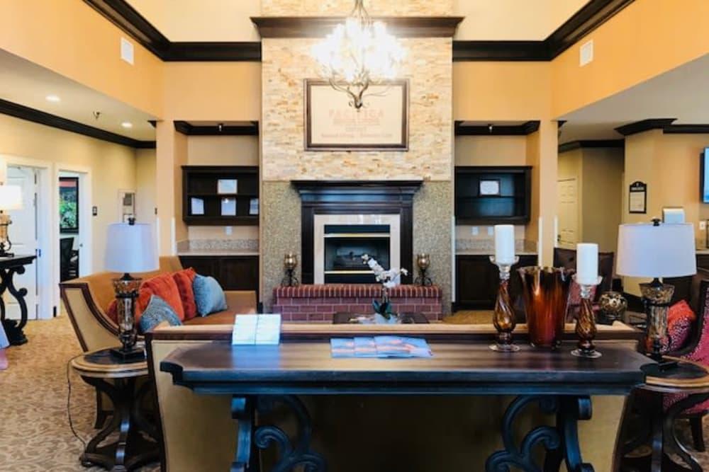 Luxury living room at Pacifica Senior Living Hemet in Hemet, California