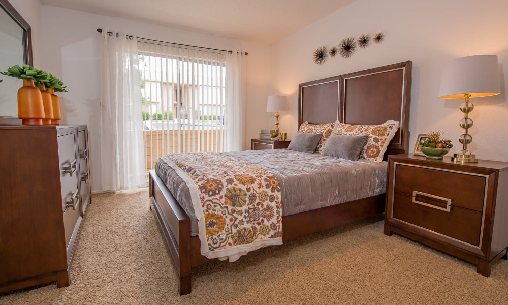 Spacious bedroom at Windsail Apartments in Tulsa, Oklahoma