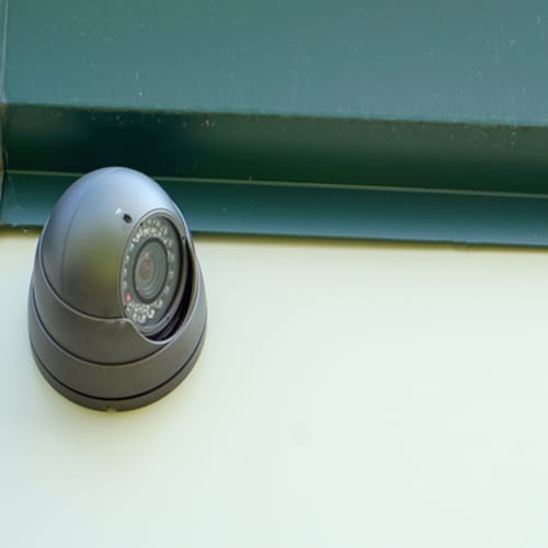 Security camera at Red Dot Storage in Machesney Park, Illinois