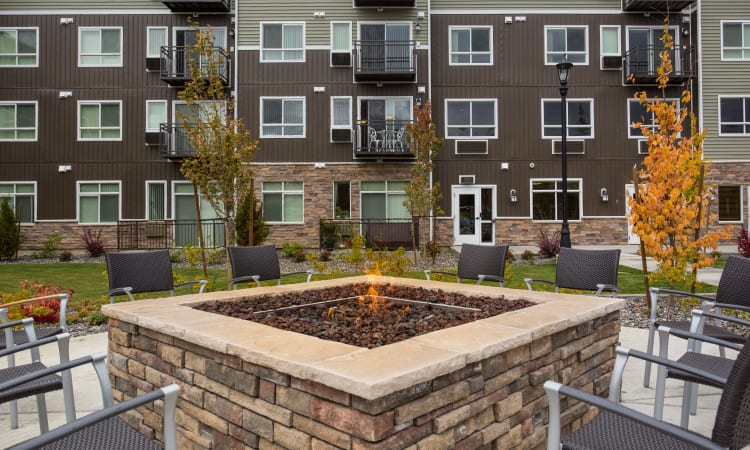 Affinity at Bellingham fire-pit seating