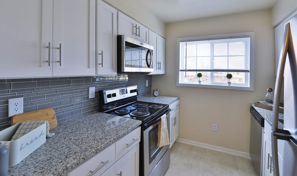 Renovated Kitchen of Steeplechase Apartments in Camillus, New York