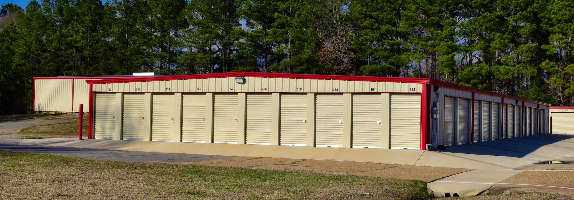 Storage units at Lockaway Storage in Texarkana, Texas