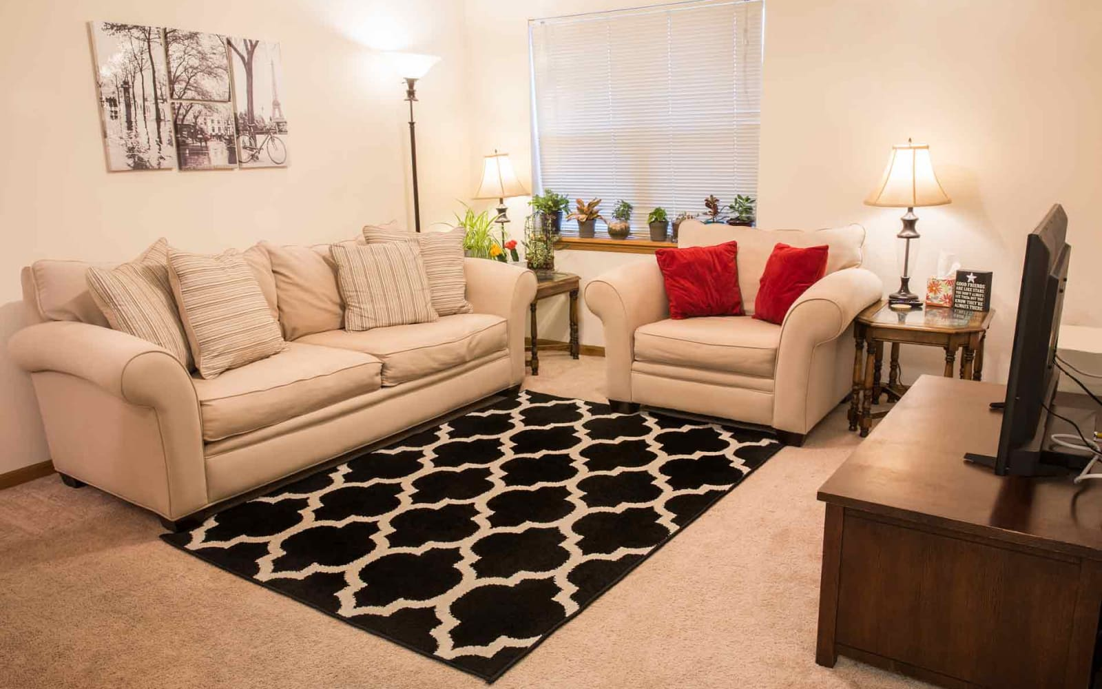 Cozy living room at West Towne in Ames, Iowa
