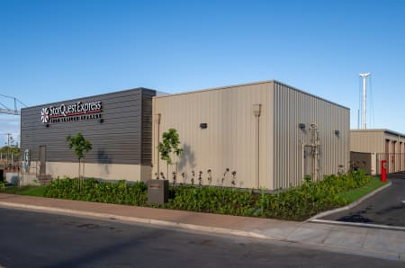 The exterior of StorQuest Express - Self Service Storage in West Sacramento, California